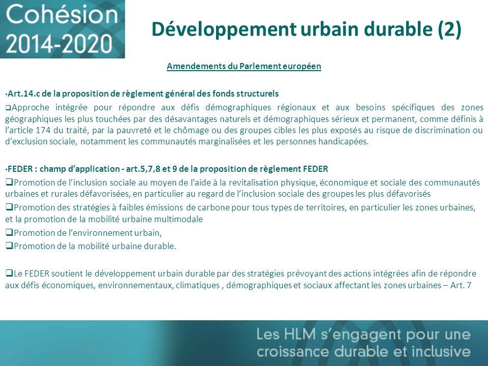 Développement urbain durable (2)