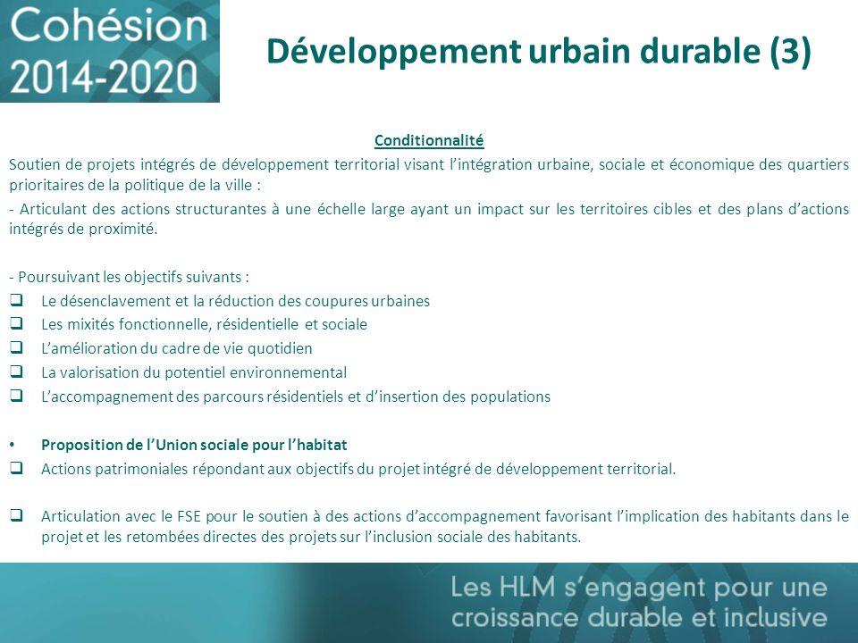 Développement urbain durable (3)