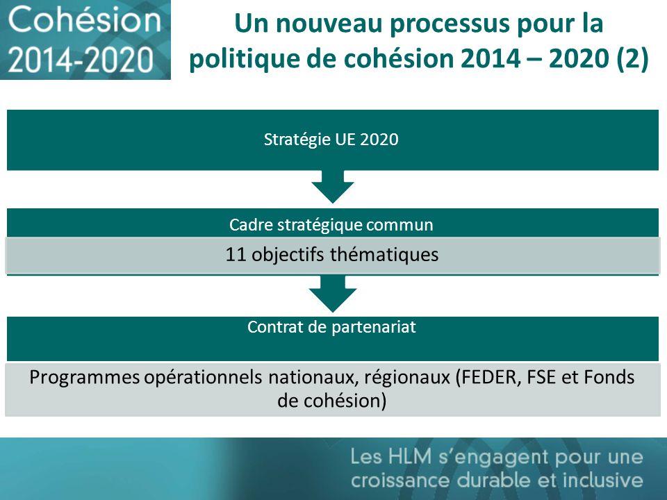 Un nouveau processus pour la politique de cohésion 2014 – 2020 (2)