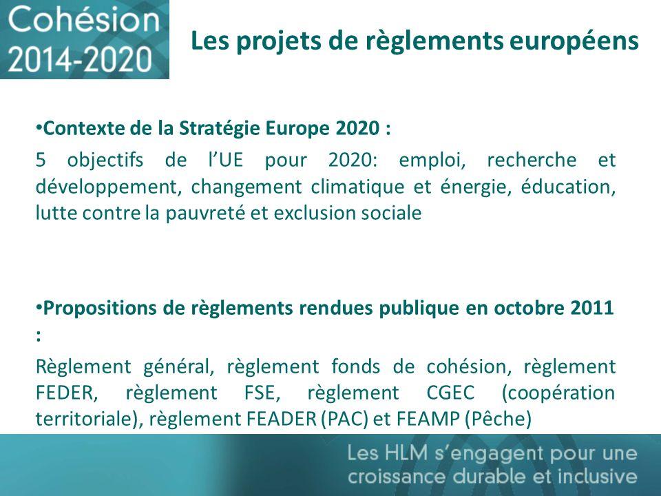 Les projets de règlements européens