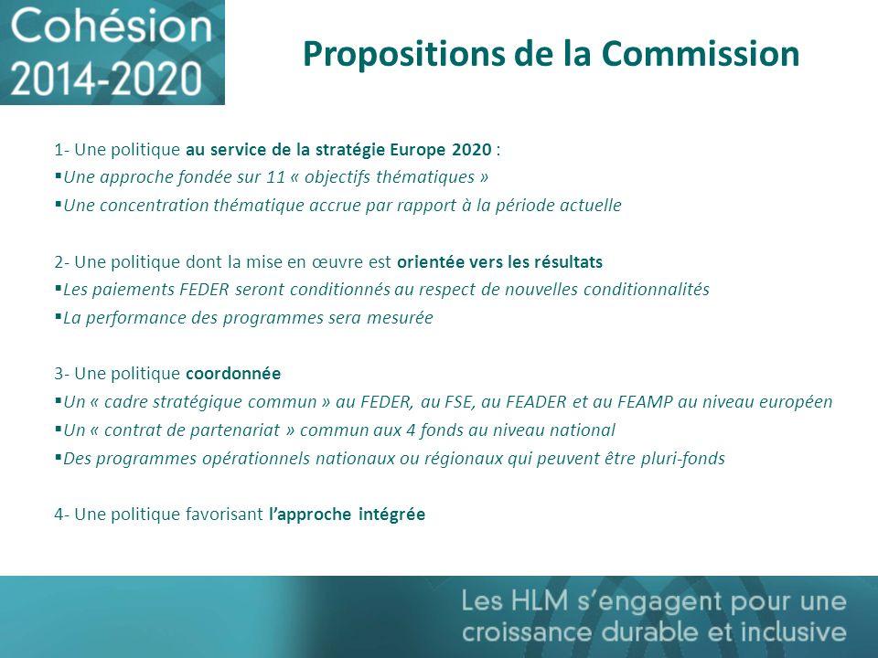 Propositions de la Commission