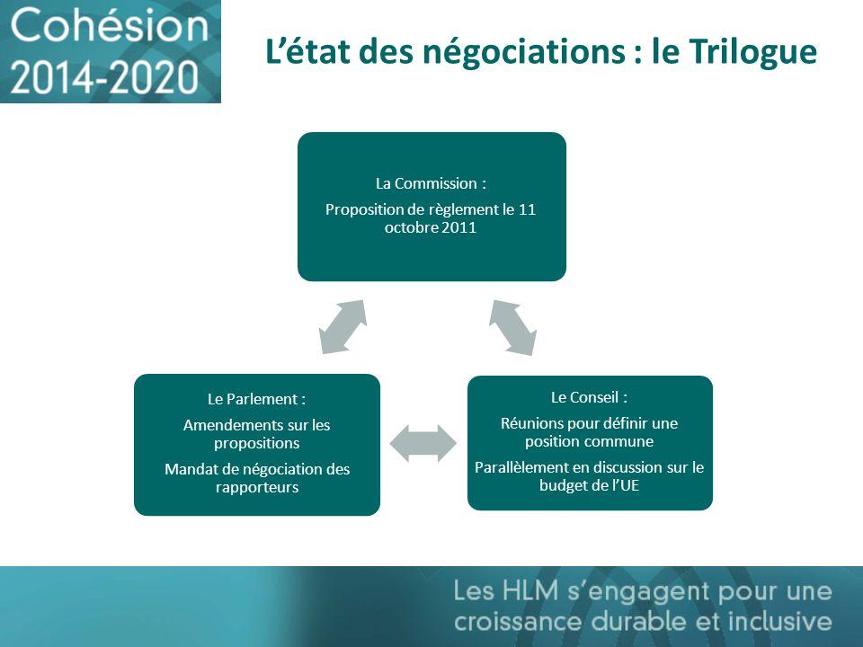 L'état des négociations : le Trilogue