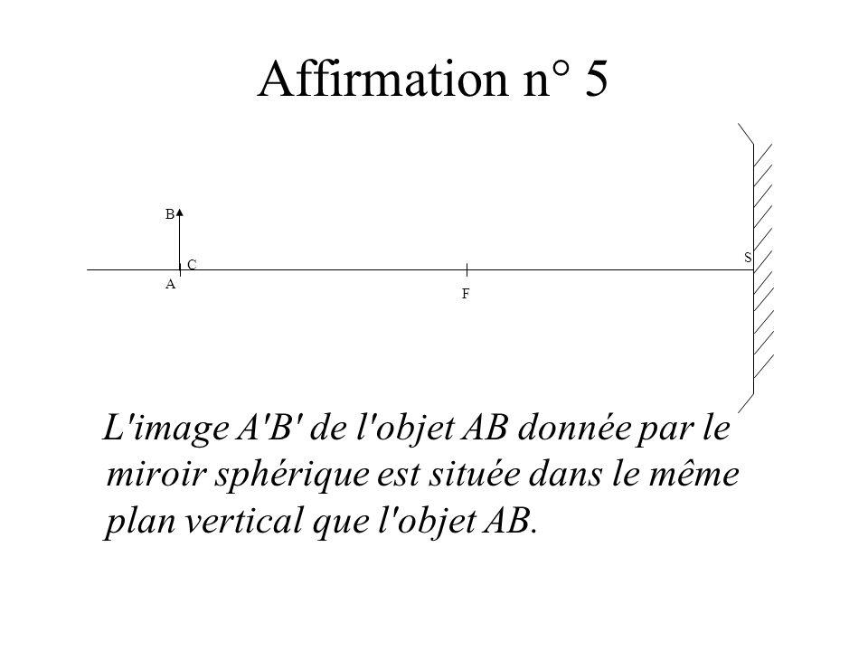 Affirmation n° 5S.F. B. A. C.