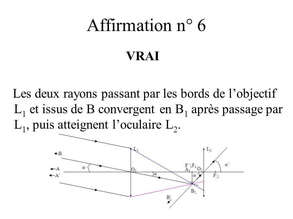 Affirmation n° 6VRAI.