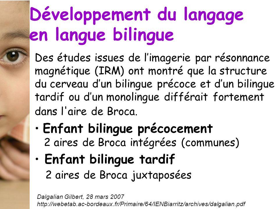 Développement du langage en langue bilingue