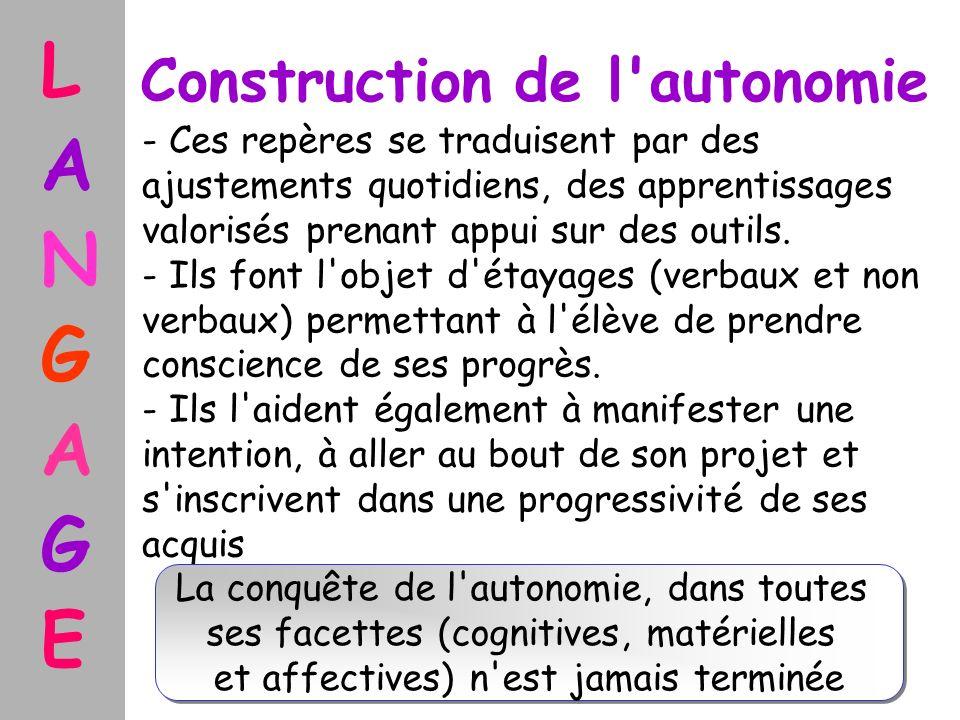 Construction de l autonomie