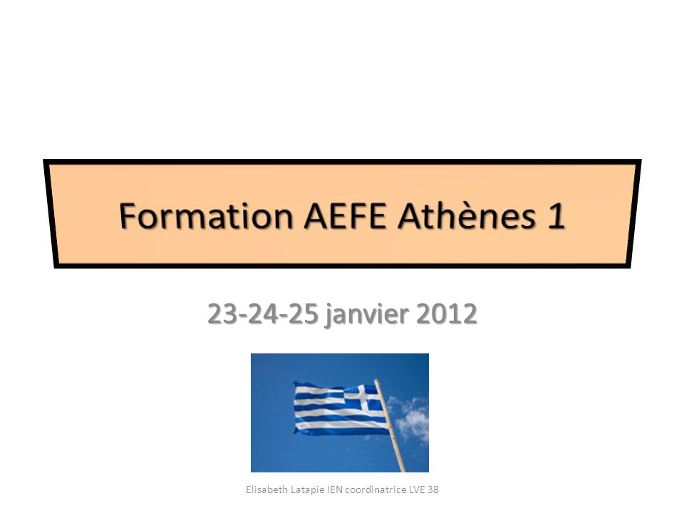 Formation AEFE Athènes 1