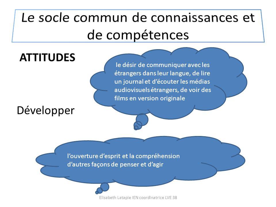 Le socle commun de connaissances et de compétences