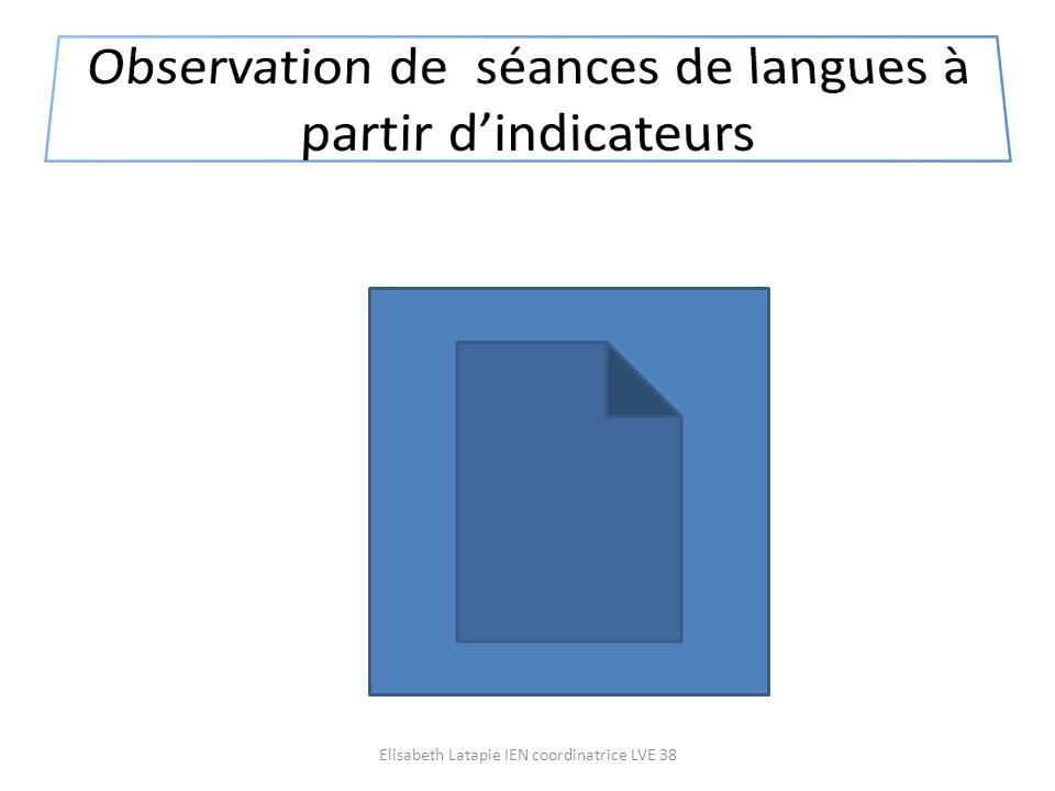 Observation de séances de langues à partir d'indicateurs