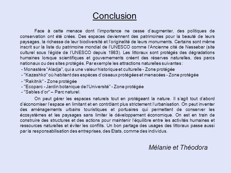 Conclusion Mélanie et Théodora