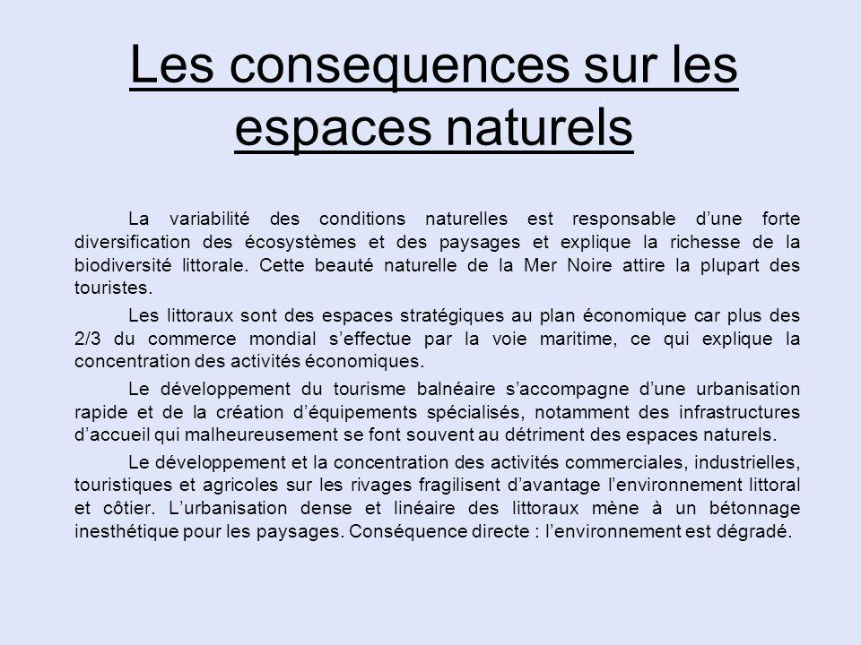 Les consequences sur les espaces naturels