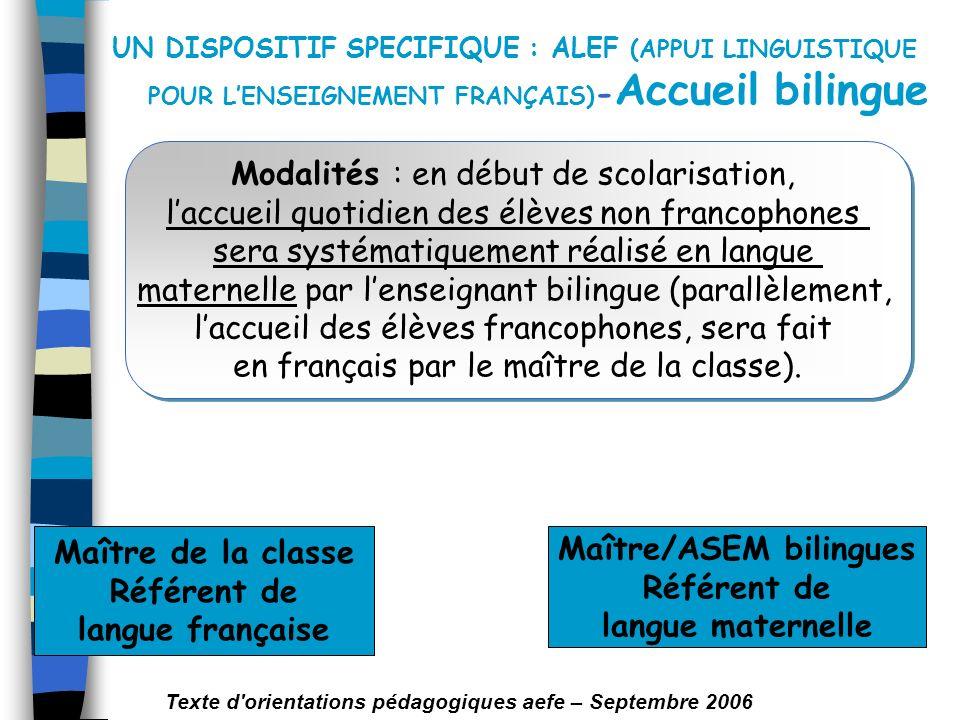 Référent de langue française Maître/ASEM bilingues