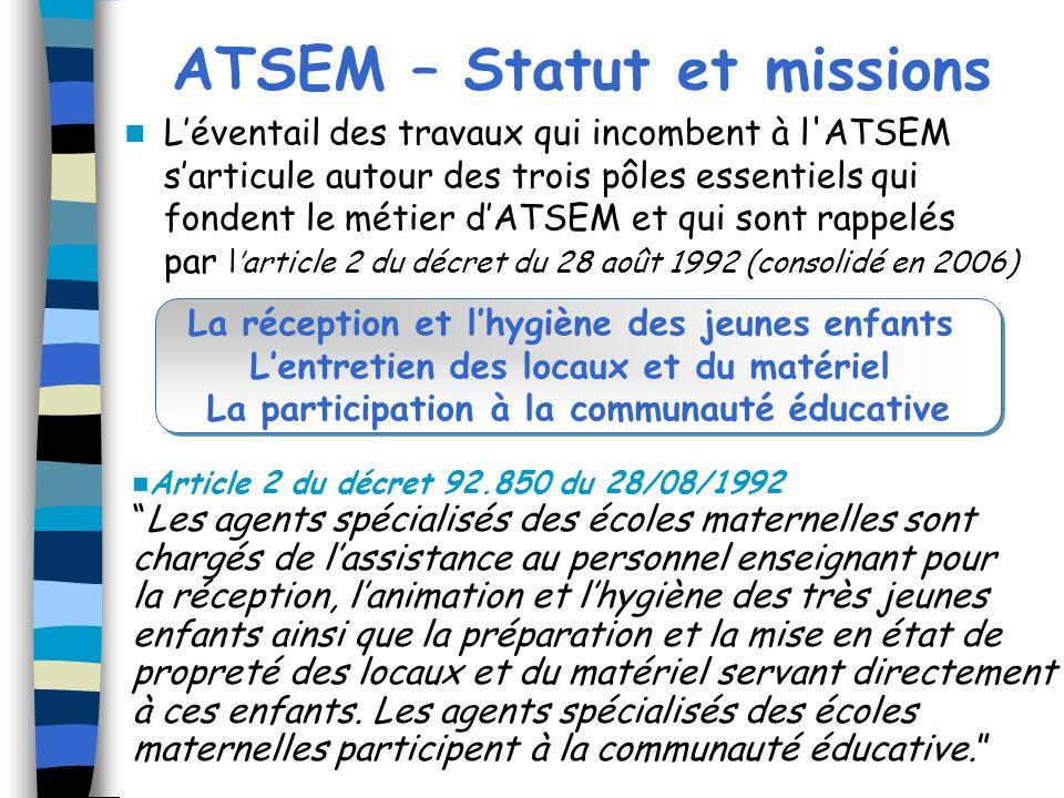 ATSEM – Statut et missions