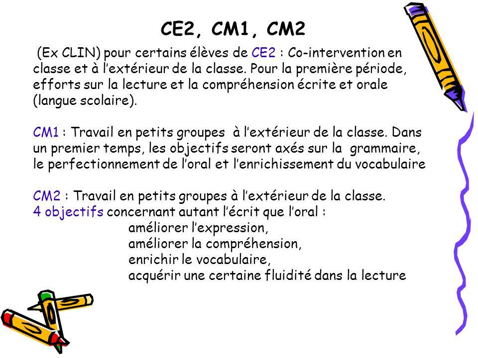 CE2, CM1, CM2
