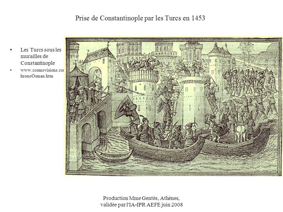 Prise de Constantinople par les Turcs en 1453