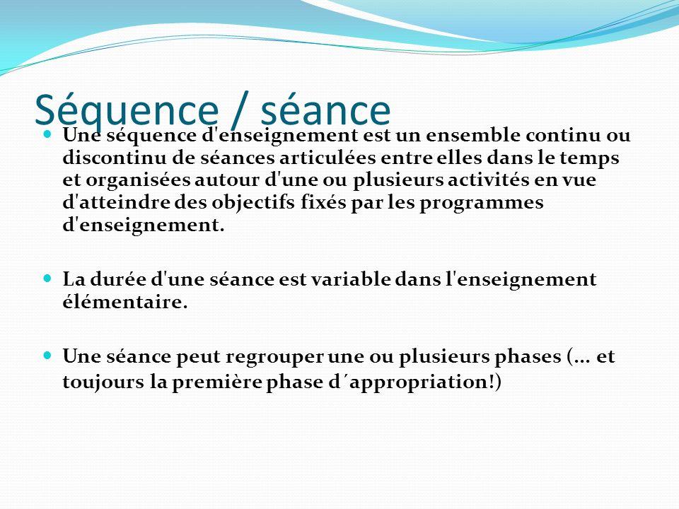 Séquence / séance