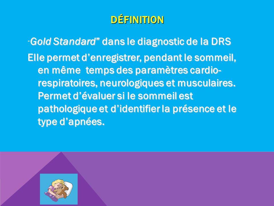 Définition Gold Standard dans le diagnostic de la DRS.