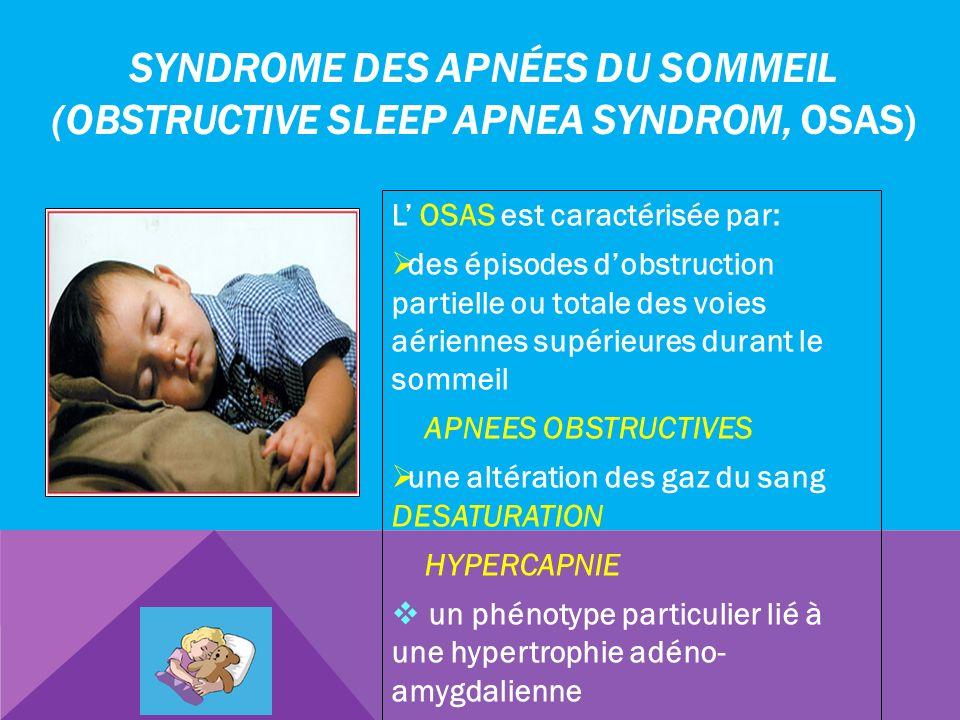 Syndrome des apnées du sommeil (Obstructive Sleep Apnea Syndrom, OSAS)