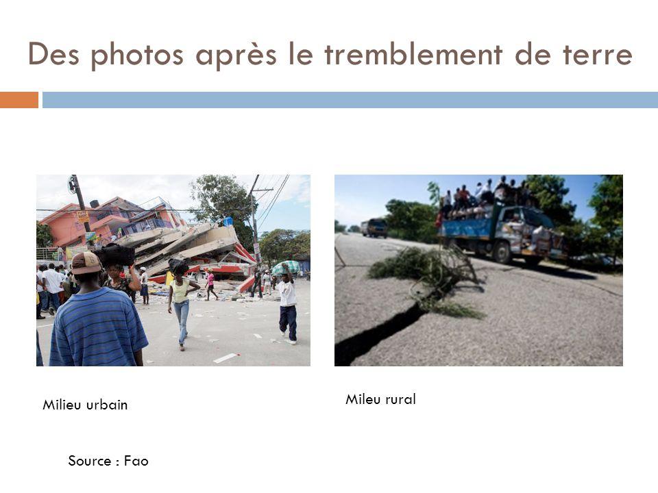 Des photos après le tremblement de terre
