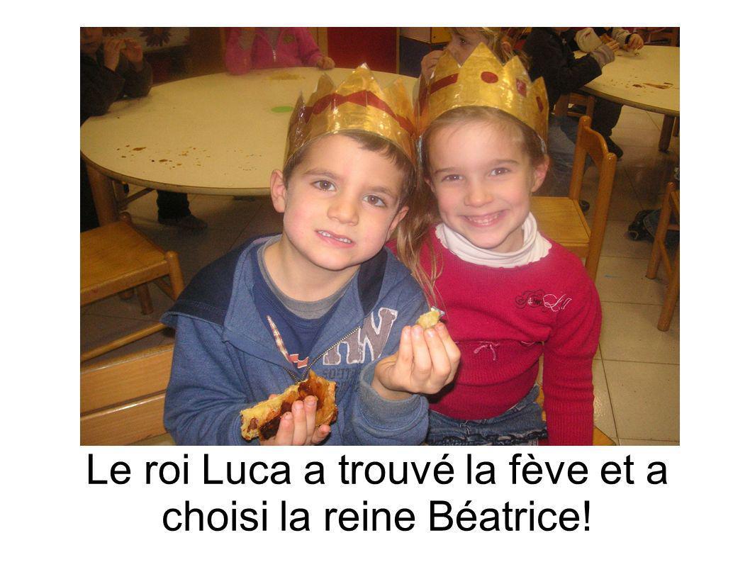 Le roi Luca a trouvé la fève et a choisi la reine Béatrice!