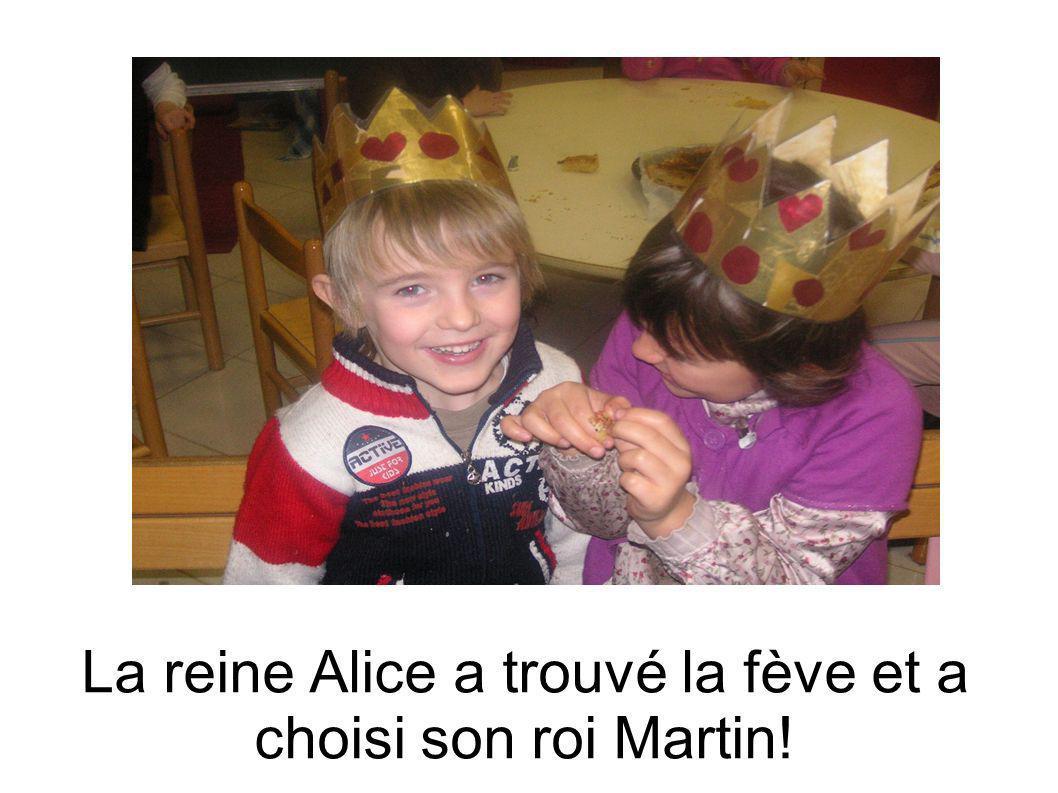 La reine Alice a trouvé la fève et a choisi son roi Martin!
