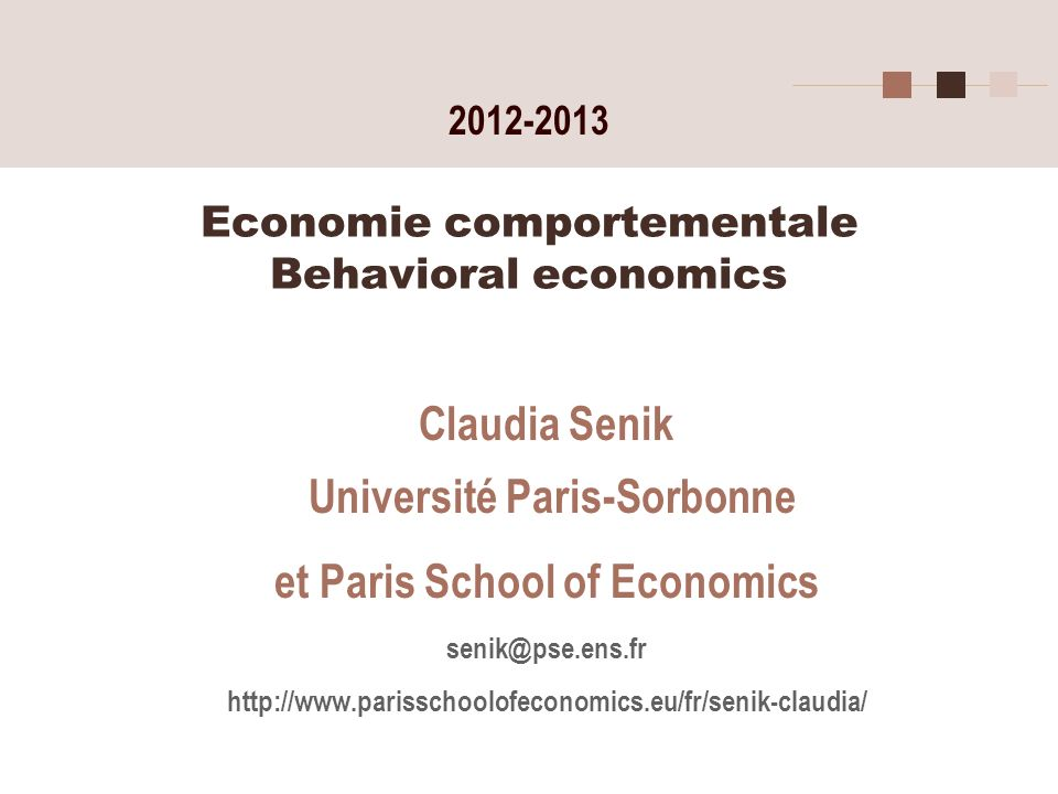 Economie comportementale Behavioral economics