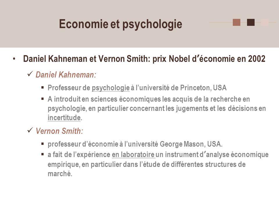 Economie et psychologie