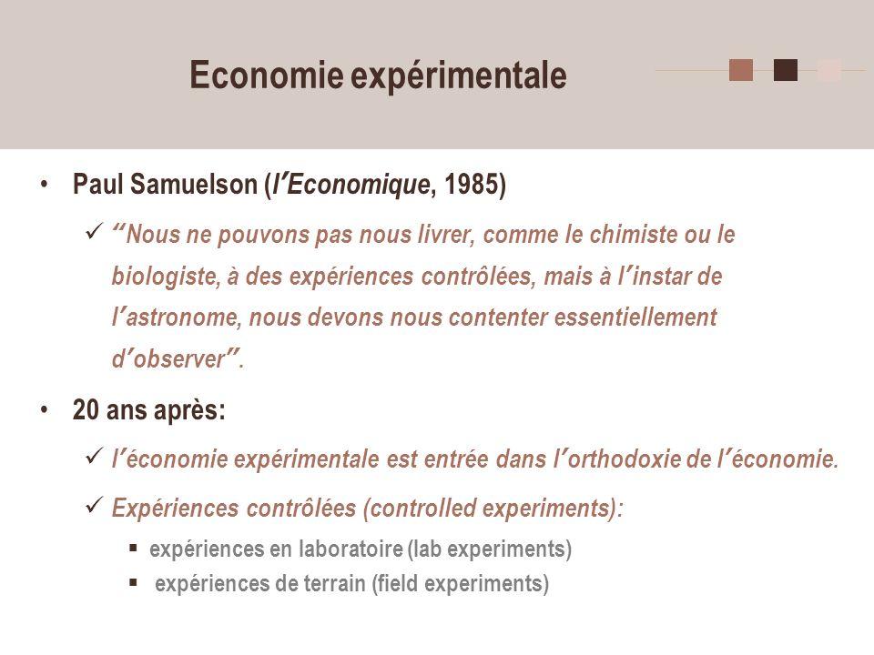 Economie expérimentale