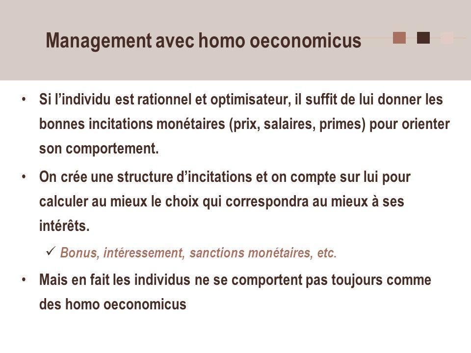 Management avec homo oeconomicus