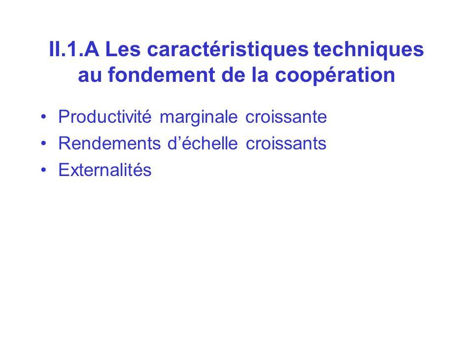 II.1.A Les caractéristiques techniques au fondement de la coopération