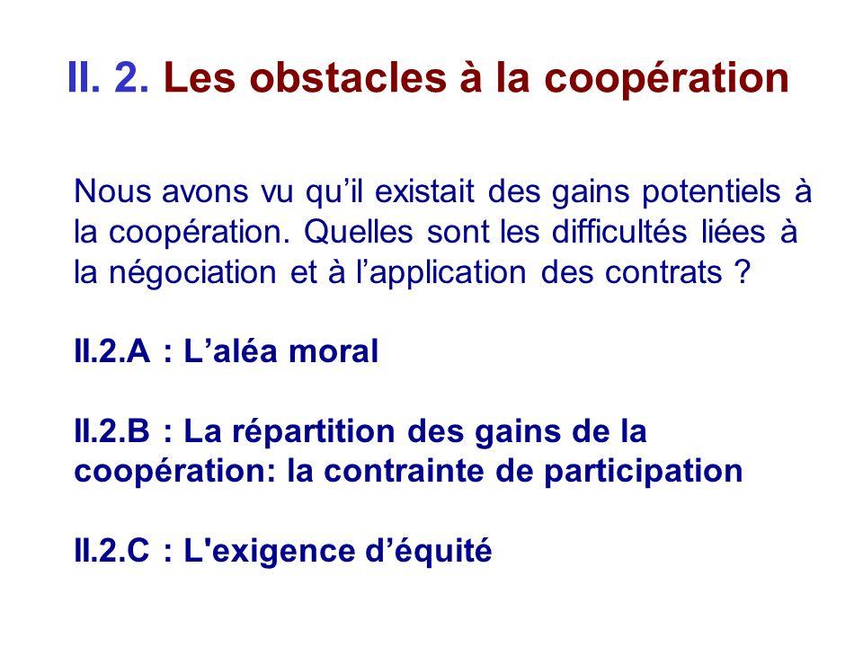 II. 2. Les obstacles à la coopération