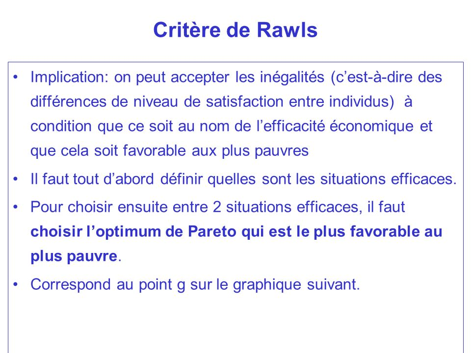 Critère de Rawls
