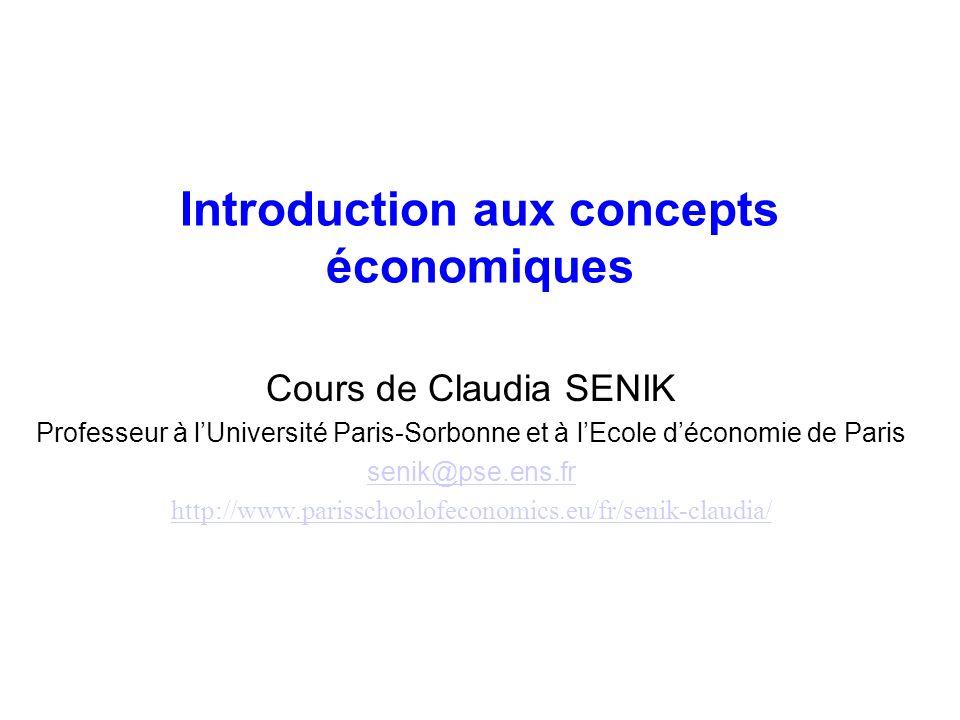 Introduction aux concepts économiques