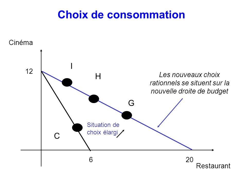 Choix de consommation I H G C Cinéma 12