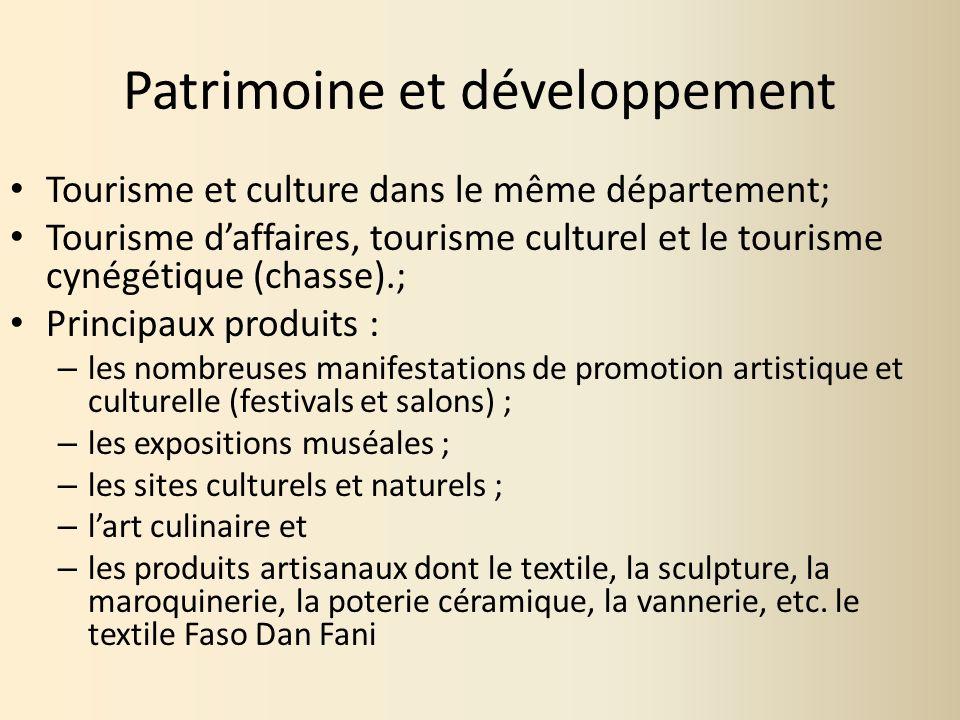 Patrimoine et développement
