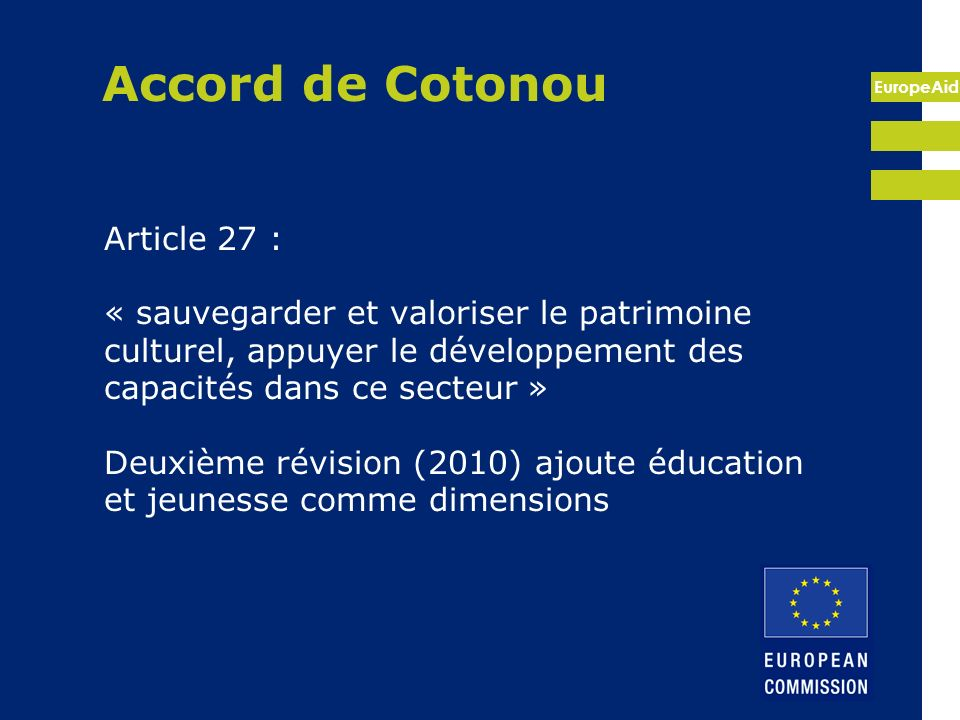 Accord de Cotonou Article 27 :