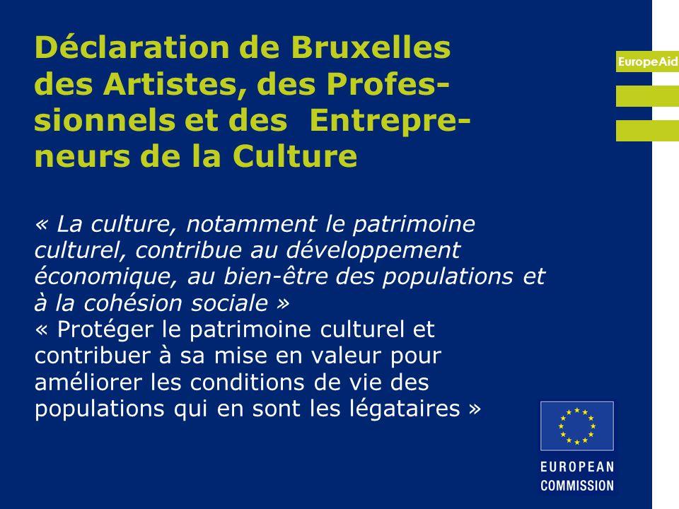 Déclaration de Bruxelles des Artistes, des Profes-sionnels et des Entrepre-neurs de la Culture