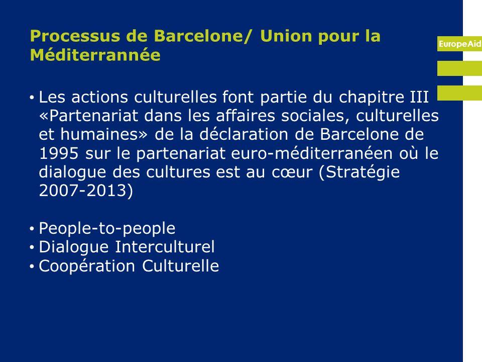 Processus de Barcelone/ Union pour la Méditerrannée