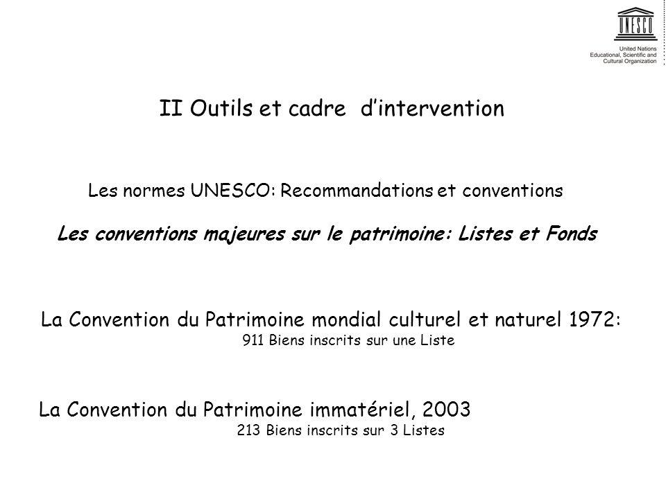 II Outils et cadre d'intervention
