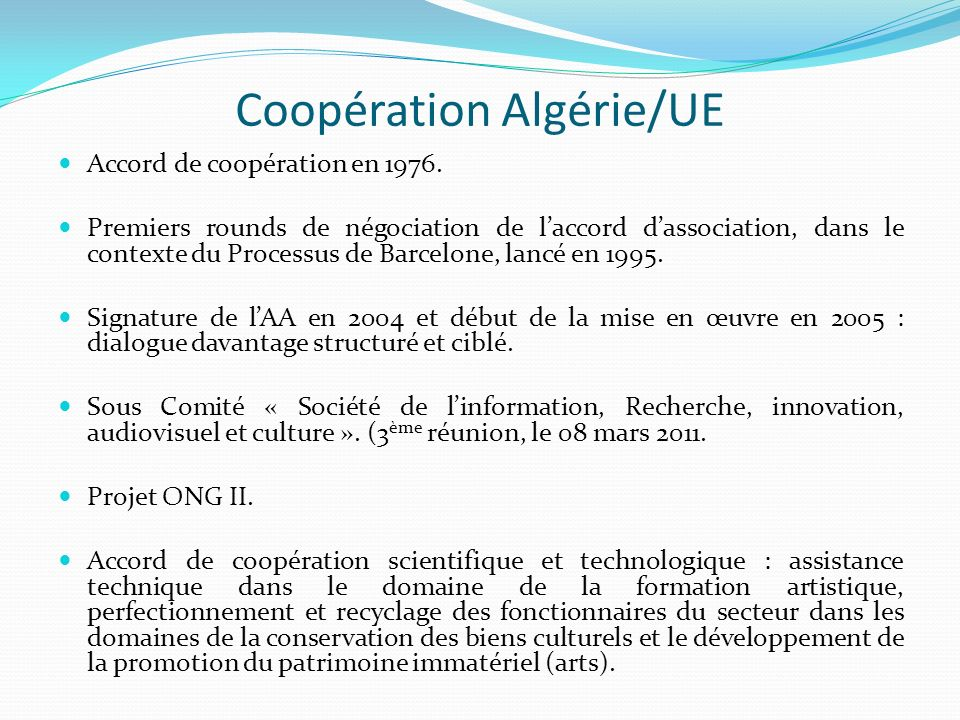 Coopération Algérie/UE