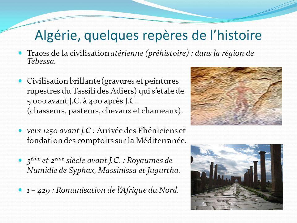 Algérie, quelques repères de l'histoire