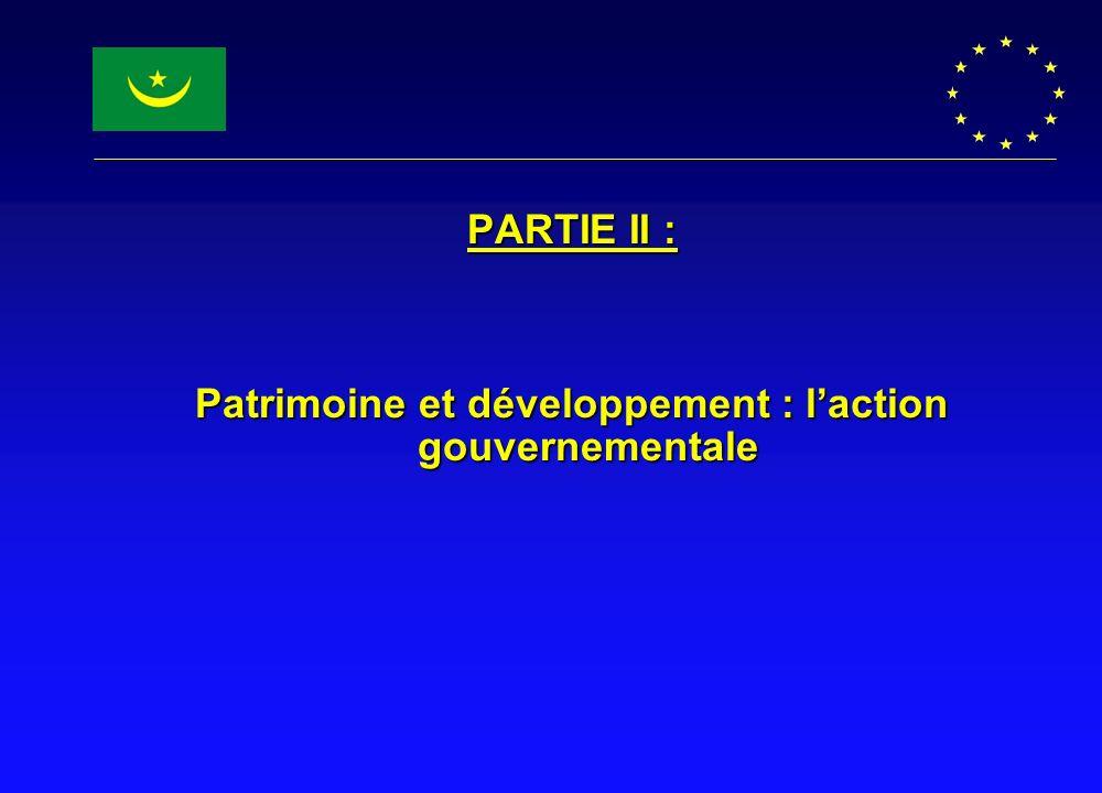 Patrimoine et développement : l'action gouvernementale