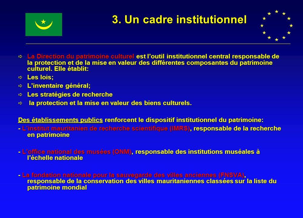 3. Un cadre institutionnel