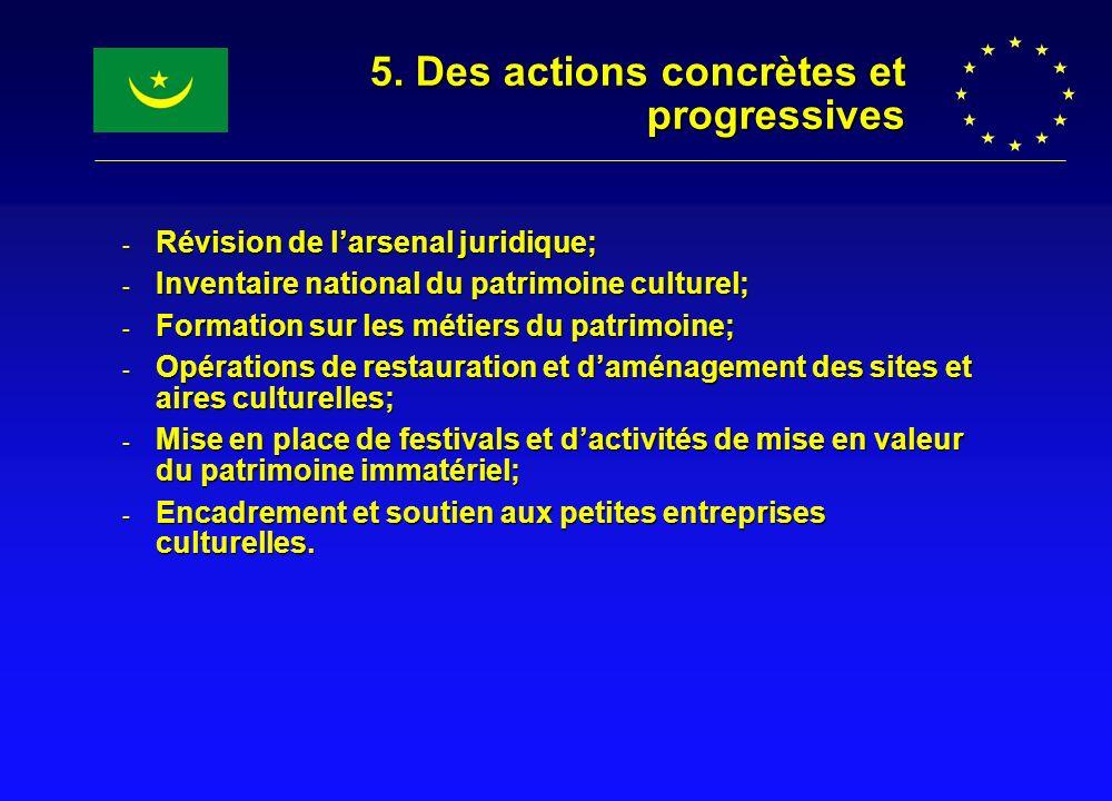 5. Des actions concrètes et progressives