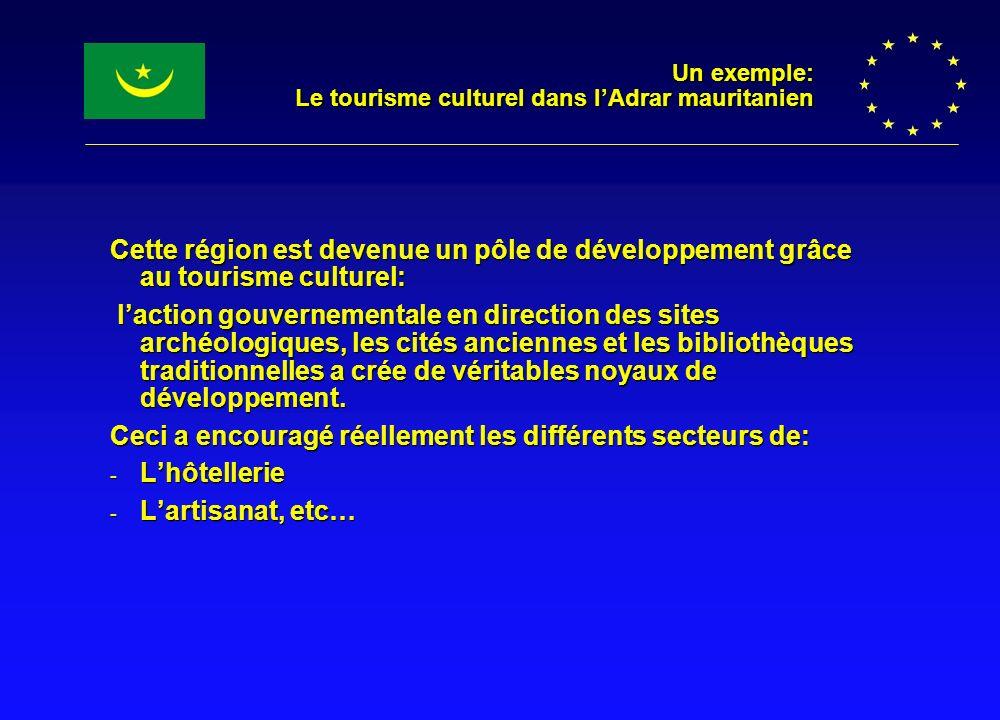 Un exemple: Le tourisme culturel dans l'Adrar mauritanien
