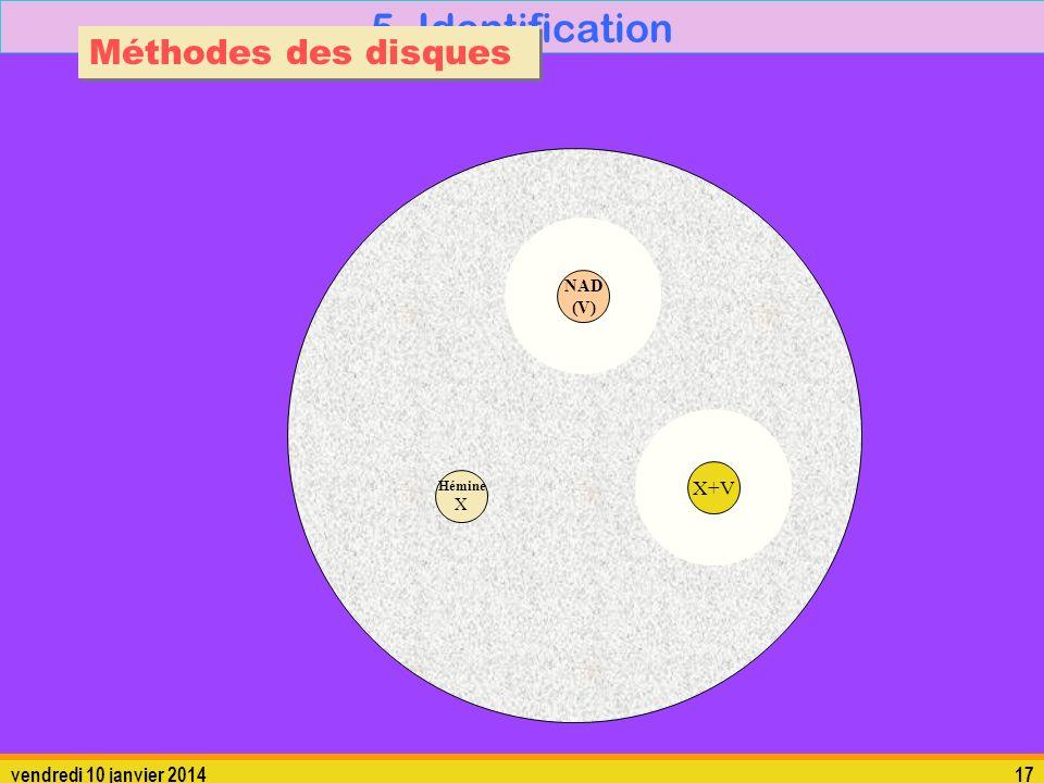 5. Identification Méthodes des disques X+V dimanche 26 mars 2017 17