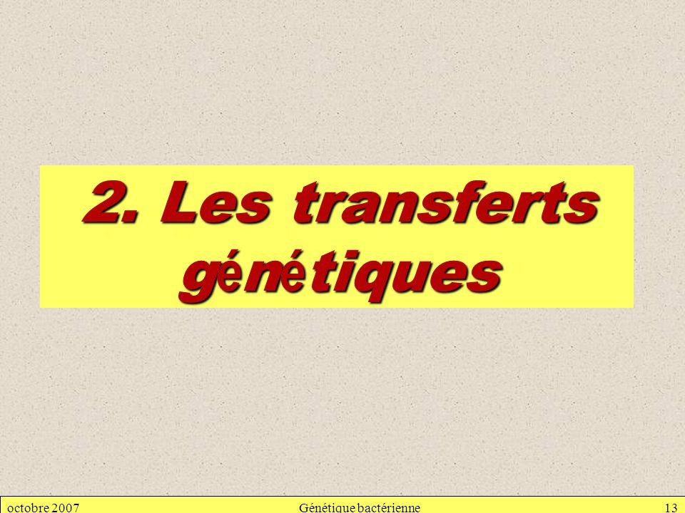 2. Les transferts génétiques