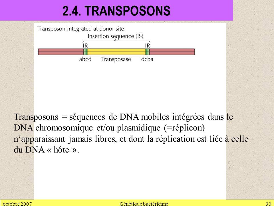 Génétique bactérienne