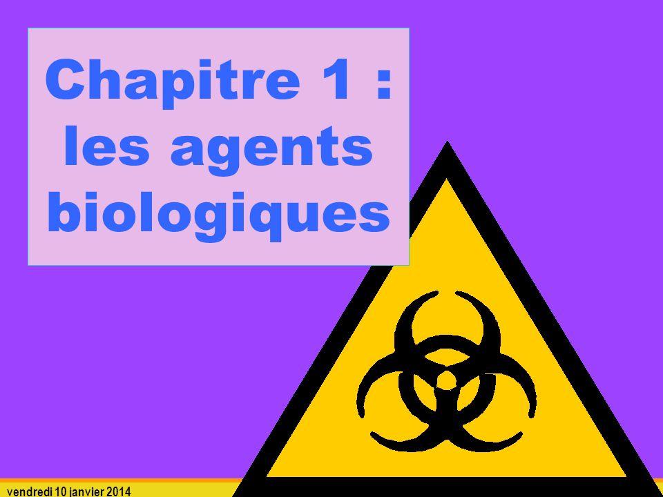 Chapitre 1 : les agents biologiques