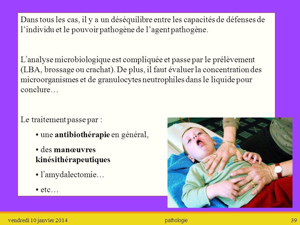 Le traitement passe par : une antibiothérapie en général,
